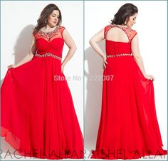 Find More Prom Dresses Information about Vestido 2015 Sheer Neck with Beaded Crystal Short Sleeve Red Chiffon Plus Size Evening Dress Sexy Open Back Prom Dresses,High Quality Prom Dresses from Dreamyfashion on Aliexpress.com