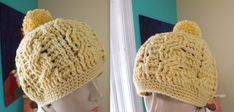 Crochet Gorro De Trenzas Para Adulto