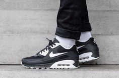 9f38528fdd NIKE AIR MAX 90 ESSENTIAL - ANTHRACITE, WHITE & BLACK TRAINERS IN ALL SIZES
