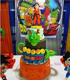 Festa Dragon Ball Z e Dragon Ball super - Mais de 50 ideias Inspirieren Sie Ihre Party ® Goku Birthday, Ball Birthday, 10th Birthday Parties, Birthday Fun, Birthday Celebration, Birthday Party Themes, Birthday Cake, Dragonball Z Cake, My Dream Cake