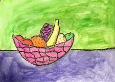 Elements of the Art Room: 2nd grade Paul Cezanne inspired Fruit bowls Fruit Art Kids, Fruit Bowls, Paul Cezanne, French Artists, Inspired, Artwork, Room, Inspiration, Bedroom