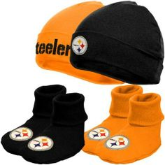 NFL Pittsburgh Steelers Infant Clothing Set, 4-Piece, 2 Caps & 2 Booties, 0-6 Months Gerber. $17.99. Save 10% Off!