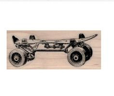 New to pinkflamingo61 on Etsy: Toy roller skate rubber stamp  stamps  stamping vintage style sport supplies  number 19419 (5.10 USD)
