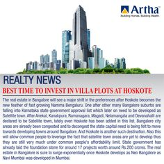 #Realty #Bangalore Update: #Hoskote is the new epicenter for #realestate industry in Bangalore. This is the best time to invest in this #NEO BANGALORE