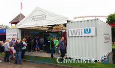 Pop-up container nintendo event beurs container