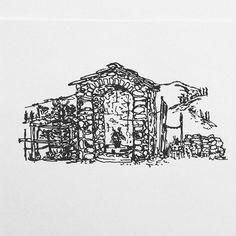 Tuscany.  #black #white #pen #ink #sketch #sketching #sketchbook #draw #drawing #illustration #illustrator #illustrating #art #artwork #artist #artsy