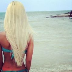 Platinum Blonde Beach Hair