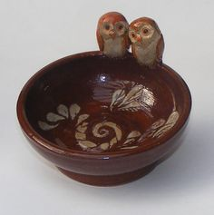 Ceramic Owls Bowl by OrnaArtHeart on Etsy, $27.00