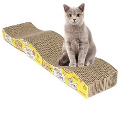 Cat Corrugated Pad Scratcher Bed Toy -Best For Pet or Cat Training
