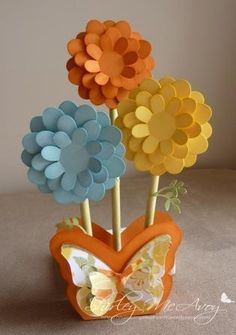 how+to+make+large+3d+flower | This butterfly flower pot was so fun to put together but my favourite ...