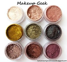 Makeup Geek - recenzja pigmentów - swatche + makijaże  http://kolorowoipachnaco.blogspot.com/2014/09/makeup-geek-pigmenty-recenzja-swatche.html