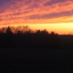 Beautiful sunset yesterday !