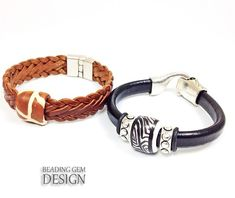 How to Measure and Make European Leather Bracelets With Any Clasp ~ The Beading Gem's Journal