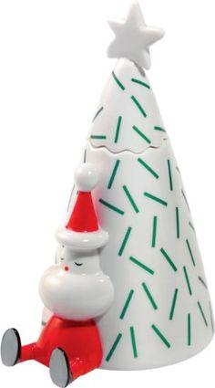 """Alessi """"Natalino"""" kleine Figure aus Porzellan handdekoriert"""