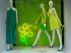 Bloomingdale's window display on Lexington Avenue during New York Fashion Week.