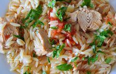 """""""Γιουβέτσι"""" με τόνο (ή άλλο ψαρικό κονσέρβας) - cretangastronomy.gr Risotto, Rice, Ethnic Recipes, Food, Essen, Meals, Yemek, Laughter, Jim Rice"""