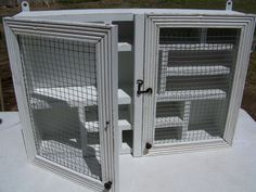 #DIY #vintage #painted furnature #wall cabinet #chicken wire http://createartinlife.blogspot.com/ furniture by ktodd