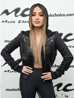 Topcelebsjackets brings a stylish outfit of a famous singer. Ally Brooke is a famous singer, she wore this awesome Black Leather Jacket on Music Choice Event in New York City. Sexy Leggings Outfit, Leather Pants Outfit, Leather Jacket, Forever My Girl, Ally Brooke, Famous Singers, Jackets For Women, Women's Jackets, Hoodie Jacket