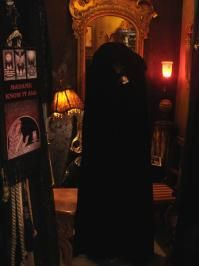 Mysterious Vintage Black Velvet Designer Cloak by Goldberry