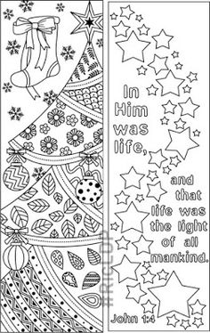 christmas coloring bookmarks for kids and grown ups christmasbookmarks