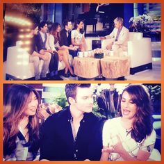 Lea, Chord, Chris, Darren and Jenna on the Ellen DeGeneres Show