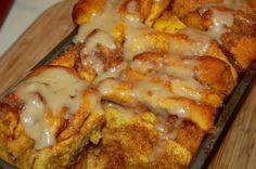 Pull apart pumpkin cinnamon bread