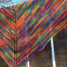 Marilyn's Easy Rainbow Shawl - Susan Elizabeth