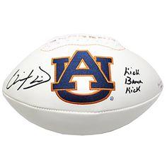 "Chris Davis Signed Auburn Tigers White Panel Football - ""Kick Bama Kick"" Inscription - http://www.rekomande.com/chris-davis-signed-auburn-tigers-white-panel-football-kick-bama-kick-inscription/"