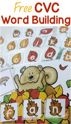 Fall Word Work: FREE CVC Word Building Printable This free squirrel cvc word building activity for fall word work will provide great practice for your students. Word Work Activities, Phonics Activities, Autumn Activities, Classroom Activities, Thanksgiving Activities, Teaching Phonics, Kindergarten Literacy, Teaching Reading, Student Teaching