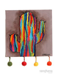 cuadros de macetas con cactus - Buscar con Google Cactus Painting, Cactus Art, Diy Wall Art, Diy Art, Motifs Textiles, Desert Art, Easy Watercolor, Mexican Art, Painting Inspiration