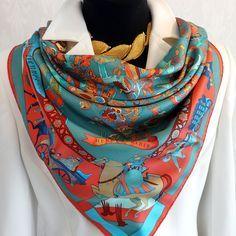 FEATURED Authentic Vintage Hermes Silk Scarf Fantaisies Indiennes with – Carre de Paris
