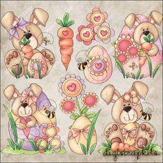 Bunny Love 1 Clip Art Set