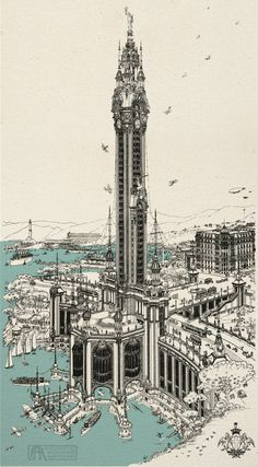 Torre della Pace, Genova, byRenzo Picasso1917