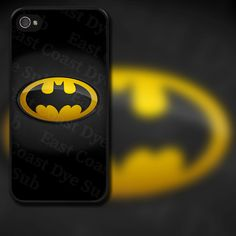 Batman Yellow Logo Design on iPhone 4 / 4s / 5 / 5s / 5c / 6 Rubber Silicone Case by EastCoastDyeSub on Etsy https://www.etsy.com/listing/110281366/batman-yellow-logo-design-on-iphone-4-4s
