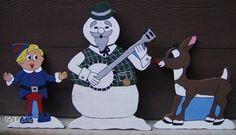 Rudolph, Snowman and Hermey The Elf
