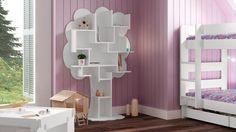 bibliotheque etagere bois laquee arbre couleur blanc decor louane mobiliermoss