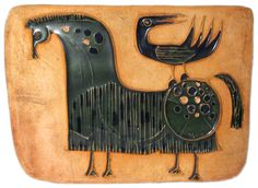 Bertil Vallian, Horse & Bird wall plaque for Hal Fromhold Studio, ca. 1961-63.