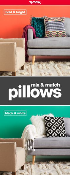 Looking to refresh your space on a budget? Easily update your living room with throw pillows that represent your style. For a minimalist look, mix and match black, white, and dramatic prints. Or, prep your space for the cooler seasons ahead with warm jewel tones like magenta and rich turquoise. Shop more easy home updates on tjmaxx.com and at your local T.J.Maxx.