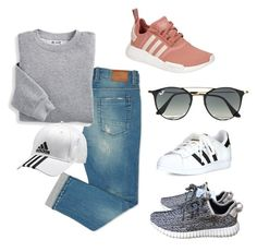 Causal Adidas by stephanie-fh on Polyvore featuring polyvore, fashion, style, Blair, adidas, Ray-Ban and clothing