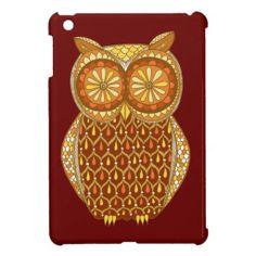 Retro Owl iPad Mini Case