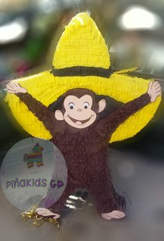 jorge el curioso piñata Piñakids GP Gabriel, Teddy Bear, Christmas Ornaments, Toys, Holiday Decor, Animals, Ideas, Curious George Birthday, Janus