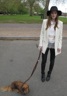 Rosie Fortescue on her blog in an outfit for an episode of Made In Chelsea