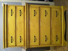 Stained Yellow dresser