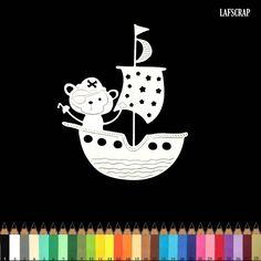 1 découpe scrapbooking scrap bateau pirate singe bébé naissance découpe papier embellissement die cut création par lafscrap sur Etsy https://www.etsy.com/fr/listing/587606041/1-decoupe-scrapbooking-scrap-bateau