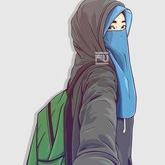 Images of muslim cute anime pic hd - Anime Muslim, Muslim Hijab, Character Art, Character Design, Hijab Drawing, Islamic Cartoon, Hijab Cartoon, Hijab Niqab, Islamic Girl