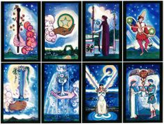 Starlight illuminated Tarot deck