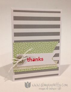 Stampin up stampin it pretty mary fish saleabration thank hello handmade card free catalogs