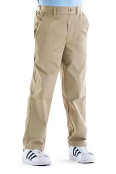 French Toast Big Boys/' Pleated Wrinkle No More Double Knee Pants Sizes 8-20