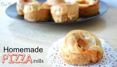 {Recipe} Homemade Pizza Rolls - Our Thrifty Ideas