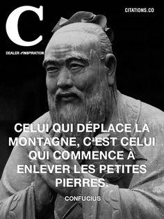 confucius Plus Plus Confucius Citation, Quote Citation, Positive Mind, Positive Attitude, Best Quotes, Life Quotes, Thinking Quotes, French Quotes, Sweet Words